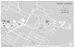 South campus map with grid