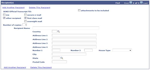 enter recipient address