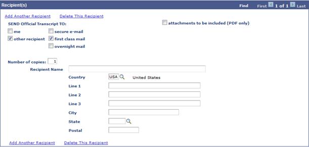 Screenshot - Recipient Designation - Address Entry